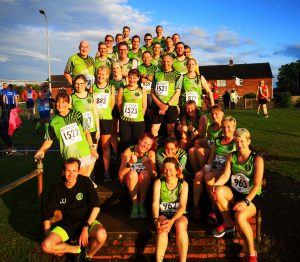 An amazing GRC turnout for a 5K race, enjoying the late evening sunshine after the downpours of earlier!